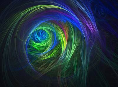 Soft Swirls Art Print by Lyle Hatch
