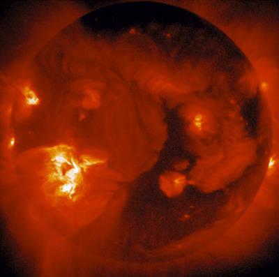 Whole Sun Photograph - Soft X-ray Image Of Sun by Nasajisas