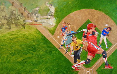 Painting - Softball by Cliff Spohn