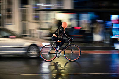 Photograph - Soggy Cyclist by Justin Albrecht