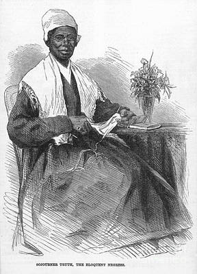 Knitted Dress Photograph - Sojourner Truth (d.1883) by Granger