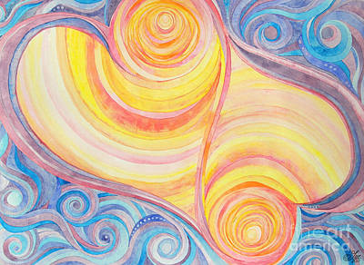 Spirals Painting - Sol To Soul by Sue Gardiner