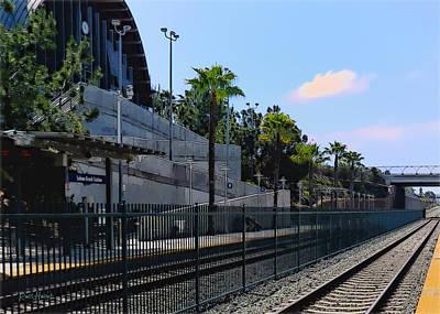 Solana Beach Train Station Art Print