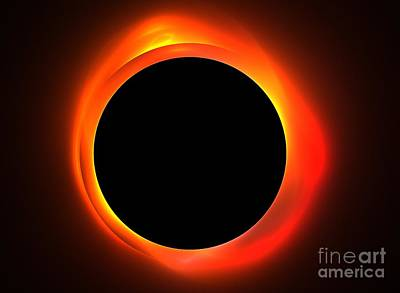Solar Eclipse Digital Art - Solar Eclipse by Kim Sy Ok