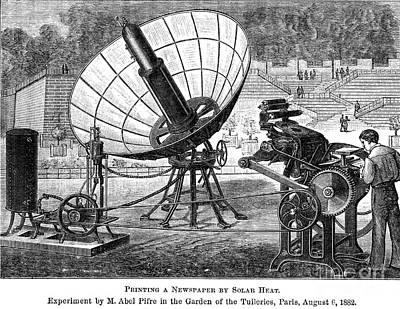 Solar Energy, 1882 Art Print