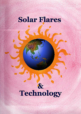 Painting - Solar Flares And Technology by Ahonu