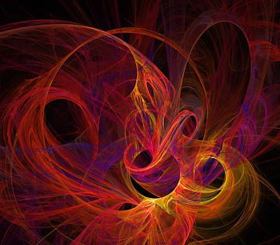 Digital Art - Solar Flares by Ricky Barnard