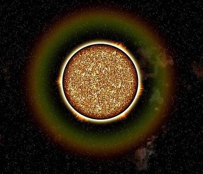 Whole Sun Photograph - Solar Granulation by Roger Harris