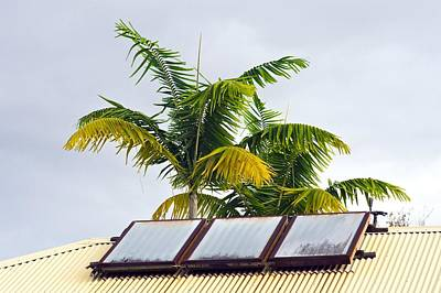 Solar Water Heater Art Print
