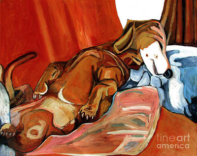 Sold Hughie The Dog Boy Wonder Art Print