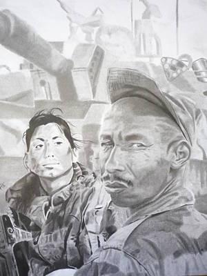 Drawing - Soldaditos by Luis Carlos A