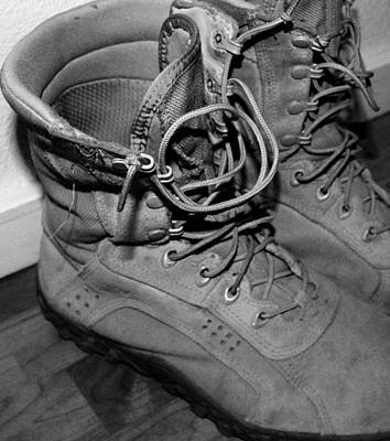 Photograph - Soldier Boots by Elizabeth  Doran