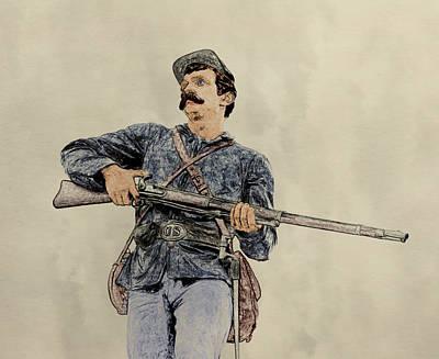 Soldier Of Gettysburg Art Print by Randy Steele