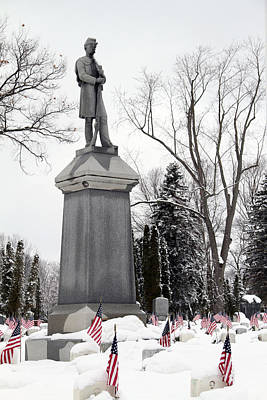 Photograph - Soldier Standing Guard  by Mark J Seefeldt