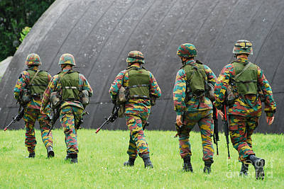 Soldiers Of The Belgian Army Art Print