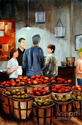At The Market Art Print by Cindy Roesinger