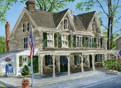 Painting - Solebury Postoffice by Margie Perry