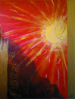 Painting - Solis A Collabaration by Janice T Keller-Kimball