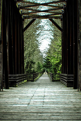 Railroad Bridge Photograph - Solitary Mile by Marie Jamieson