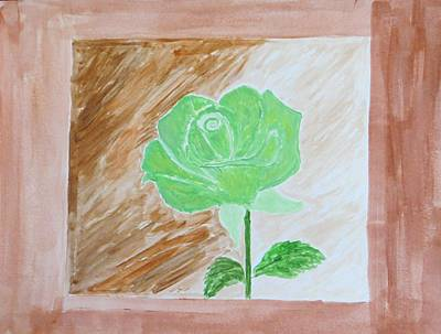 Art Print featuring the painting Solitary Rose by Sonali Gangane