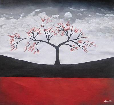 Painting - Solitary Tree-oil Painting by Rejeena Niaz