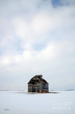 Barns In Snow Photograph - Solitude In Pure by Christine Belt