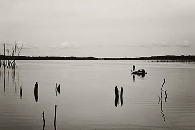 Solitude Fishing Manasquan Reservoir Art Print by Terry DeLuco