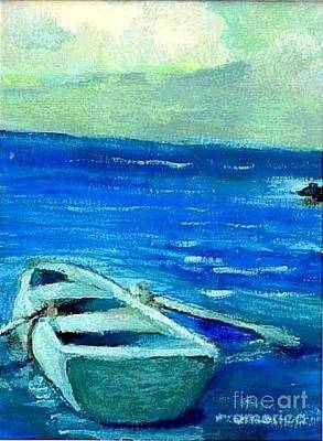 Painting - Solo Rowboat by Jose Breaux
