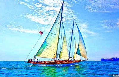 Solo Sailing Art Print