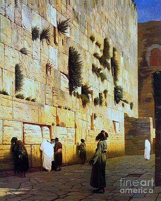 Jerusalem Painting - Solomon's Wall  Jerusalem by Pg Reproductions