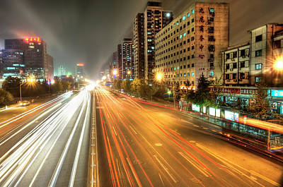 City Street Photograph - Some Beijing Street by Tony Shi Photography