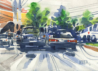 Muscle Car Painting - Some Classics by Donald Maier