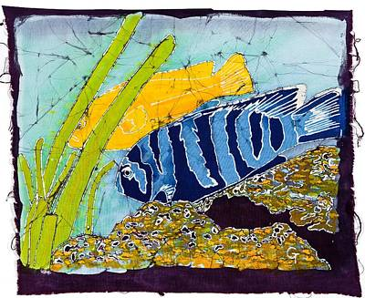 Wax Resist Mixed Media - Some Fish by Gene Tilby