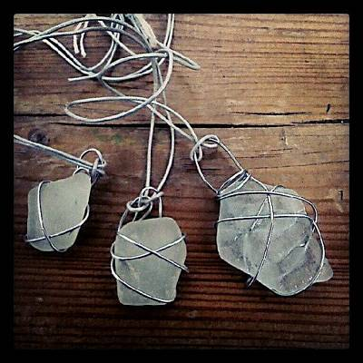 Jewelry Wall Art - Photograph - Some Simple #seaglass And #wire by Alexandra Cook