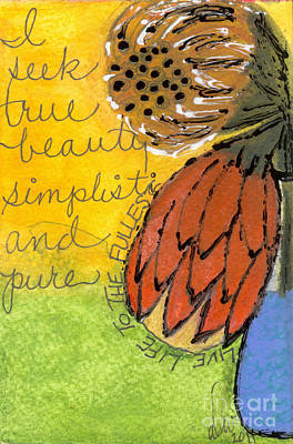 Mixed Media - Some Simple Thoughts by Angela L Walker