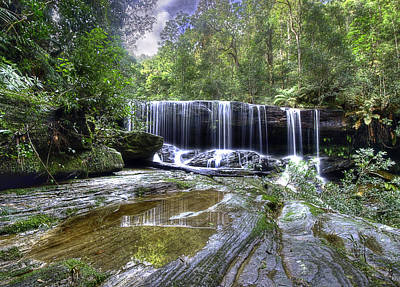 Somersby Falls Art Print by Barry Culling