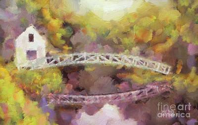Somes Bridge - Somesville Maine Art Print by Anne Kitzman