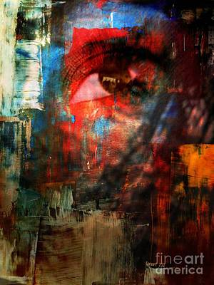 Faniart Africa America Mixed Media - Something In Her Eye by Fania Simon