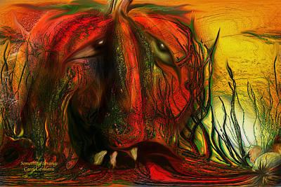 Pumpkin Mixed Media - Something Strange by Carol Cavalaris