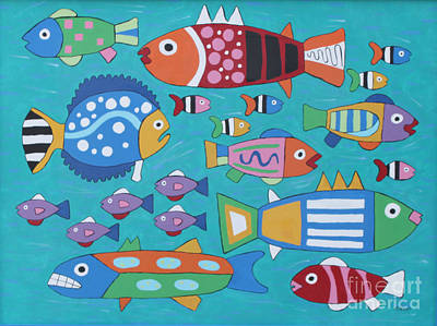 Something's Fishy Art Print by Marilyn West