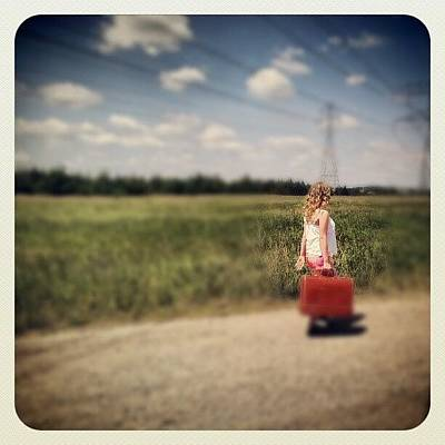 Young Girl Photograph - Sometimes It's Best To Take The Road by Trina H