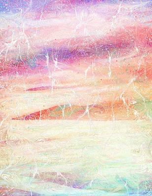 Mountain Valley Painting - Somewhere Faraway by Rachel Christine Nowicki
