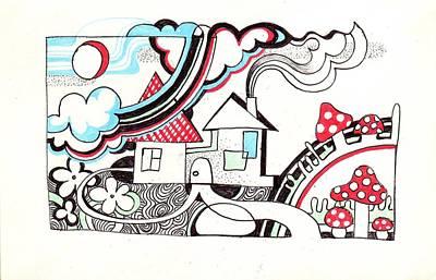 Somewhere Art Print by Margarita Kobyzova
