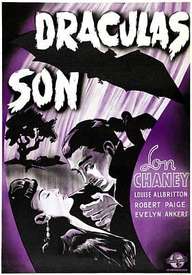 Horror Movies Photograph - Son Of Dracula, Aka Draculas Son by Everett