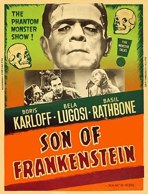 Son Of Frankenstein, Top Center Boris Art Print