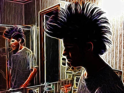 Son With Mohawk Art Print by Lisa Stanley