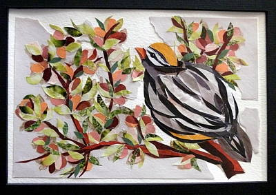 Swallow Mixed Media - Song Bird by Carol Ann Wagner