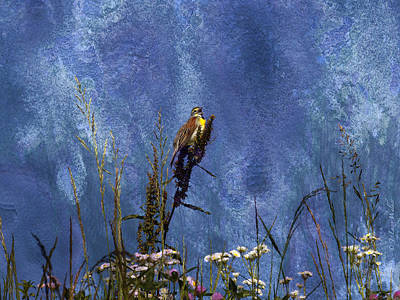 Digital Art - Song Of The Dickcissel by J Larry Walker