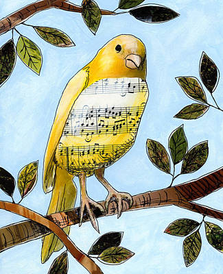 Nature Mixed Media - Songbird 3 by Amy Giacomelli