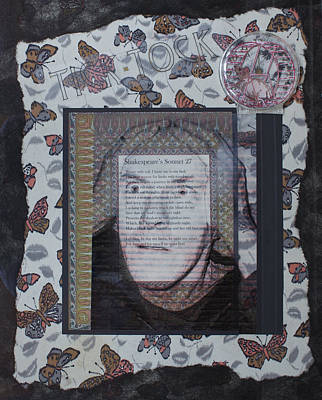 Clock Face Mixed Media - Sonnet 27 by Tracey Levine